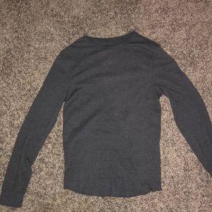 Grey urban pipeline long sleeve shirt